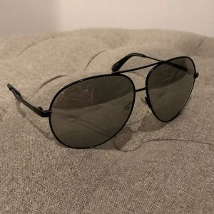 Marc by Marc Jacobs Black Aviator Sunglasses